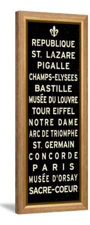 Paris Fleur de Lis Sign--Framed Stretched Canvas Print