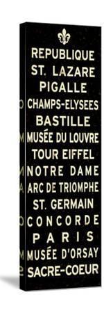 Paris Fleur de Lis Sign--Stretched Canvas Print