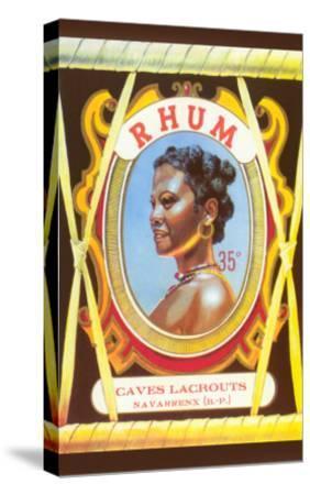Rhum, Black Woman--Stretched Canvas Print