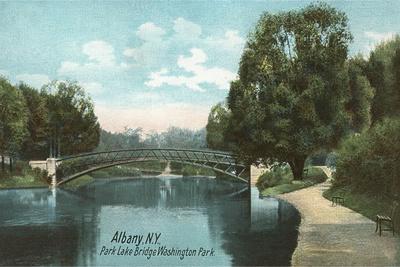Washington Park, Albany, New York--Stretched Canvas Print