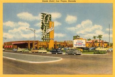 Sands Hotel, Las Vegas, Nevada--Stretched Canvas Print