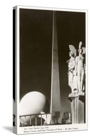 New York World's Fair Statuary, 1939--Stretched Canvas Print