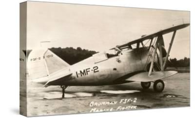 Grumman F3F-2 Marine Fighter Plane--Stretched Canvas Print