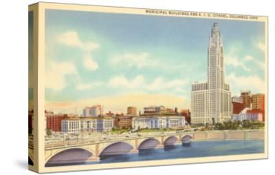 Municipal Buildings, Columbus, Ohio--Stretched Canvas Print