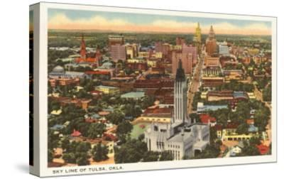 Skyline of Tulsa, Oklahoma--Stretched Canvas Print