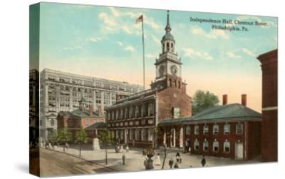 Independence Hall, Philadelphia, Pennsylvania--Stretched Canvas Print