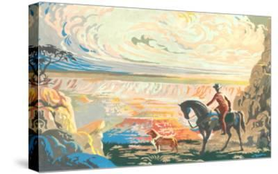 Paint by Numbers, Western Scene--Stretched Canvas Print