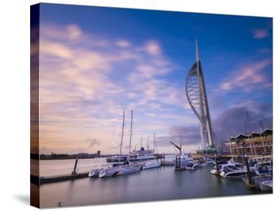 UK, England, Hampshire, Portsmouth, Gunwharf Marina, Spinnaker Tower-Alan Copson-Stretched Canvas Print