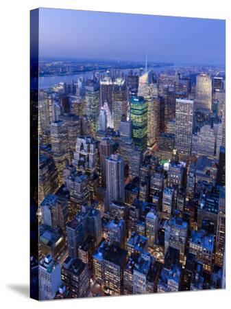 USA, New York City, Manhattan, Midtown-Gavin Hellier-Stretched Canvas Print