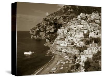Village of Positano, Amalfi Coast, Campania, Italy-Steve Vidler-Stretched Canvas Print
