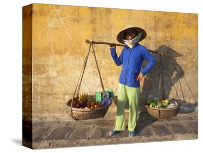 Vietnam, Hoi An, Fruit Vendor-Steve Vidler-Stretched Canvas Print