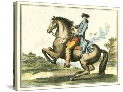 Equestrian Training IV-Diderot-Stretched Canvas Print