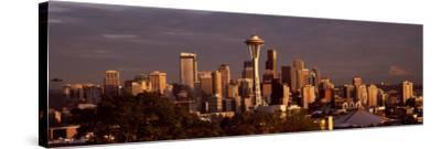 City Viewed From Queen Anne Hill, Space Needle, Seattle, King County, Washington State, USA 2010--Stretched Canvas Print