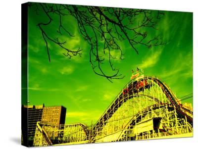 Rollercoaster, the Cyclone Rollercoaster, Astroland, Coney Island, Brooklyn, New York City--Stretched Canvas Print