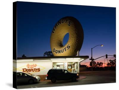 Donut's Shop at Dawn, Randy's Donuts, Inglewood, Los Angeles County, California, USA--Stretched Canvas Print
