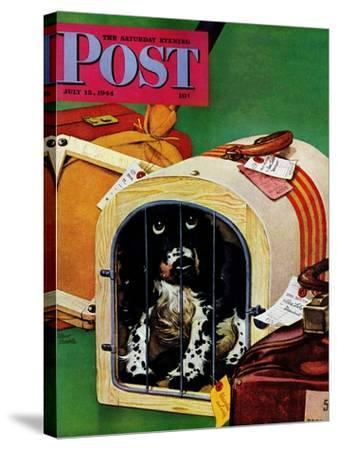 """""""Traveling Butch,"""" Saturday Evening Post Cover, July 15, 1944-Albert Staehle-Stretched Canvas Print"""