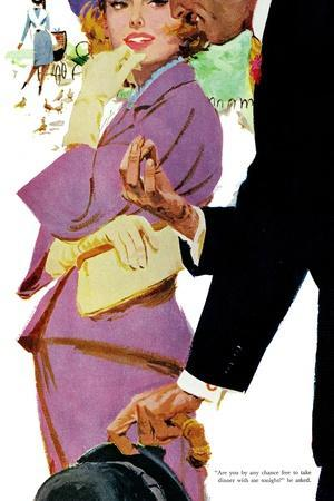 """Young and Pampered - Saturday Evening Post """"Leading Ladies"""", January 3, 1959 pg.31-Lynn Buckham-Stretched Canvas Print"""