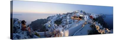 Village of Oia (La), Santorini (Thira), Cyclades Islands, Greece-Gavin Hellier-Stretched Canvas Print