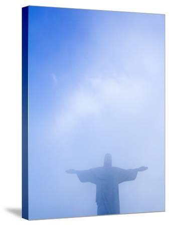 Brazil, Rio De Janeiro, Cosme Velho, Christ the Redeemer Statue at Atop Cocovado-Jane Sweeney-Stretched Canvas Print