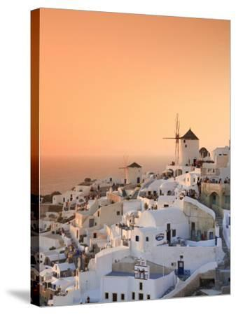 Greece, Cyclades, Santorini, Oia Town and Santorini Caldera-Michele Falzone-Stretched Canvas Print