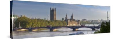 Big Ben, Houses of Parliament and River Thames, London, England-Jon Arnold-Stretched Canvas Print