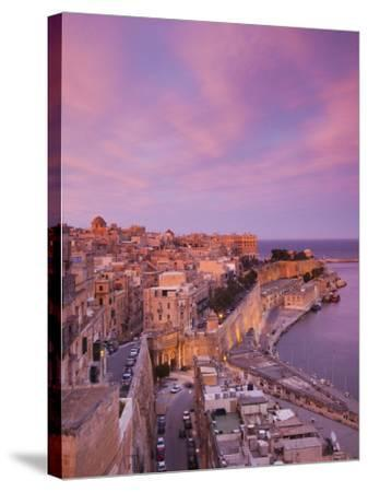 Malta, Valletta, City View from Upper Barrakka Gardens-Walter Bibikow-Stretched Canvas Print