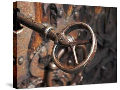 Sweden, Island of Gotland; a Antique Key and Lock Still in Use on the Medieval Church Door-Mark Hannaford-Stretched Canvas Print