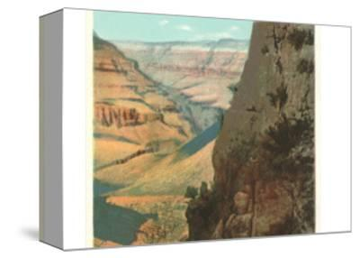 Pack Animals on Trail in Grand Canyon--Stretched Canvas Print