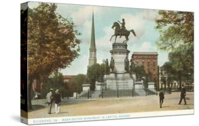 Washington Monument, Richmond, Virginia--Stretched Canvas Print