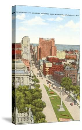 Wisconsin Avenue, Milwaukee, Wisconsin--Stretched Canvas Print