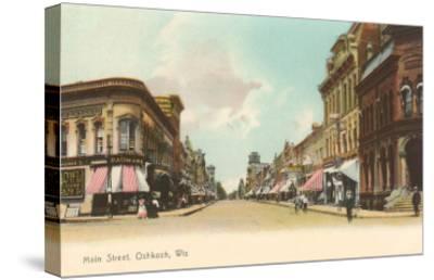 Main Street, Oshkosh, Wisconsin--Stretched Canvas Print