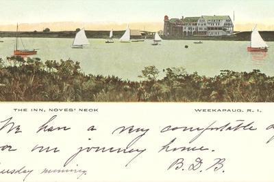 The Inn, Noyes' Neck, Weekapaug, Rhode Island--Stretched Canvas Print