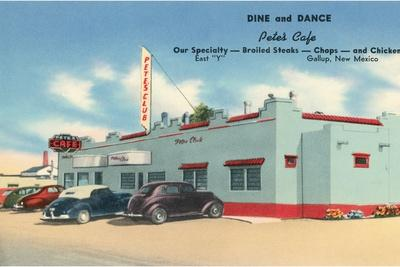 Pete's Cafe, Gallup, New Mexico, Route 66--Stretched Canvas Print