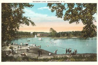 Rainbow Lake, Spartanburg, South Carolina--Stretched Canvas Print