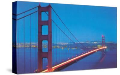 Golden Gate Bridge at Night, San Francisco, California--Stretched Canvas Print