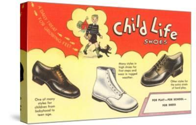 Child Life Shoes--Stretched Canvas Print