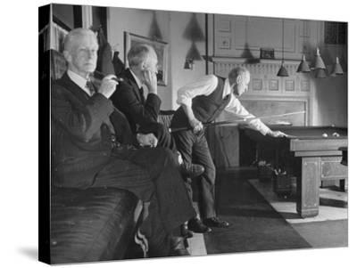 Men Relaxing in the Union Club from a Story Concerning Boston--Stretched Canvas Print