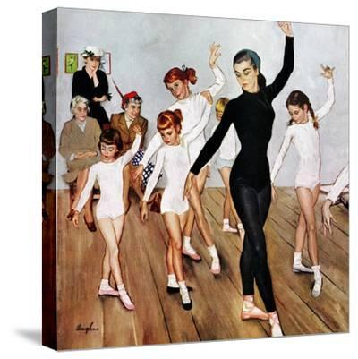 """""""Ballet Class"""", November 3, 1956-George Hughes-Stretched Canvas Print"""