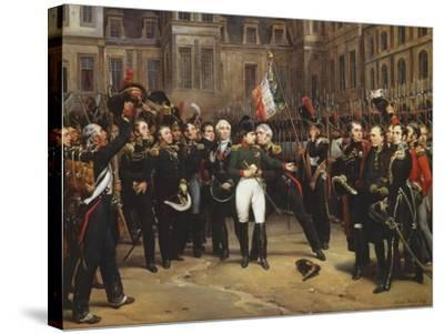 The Farewells of Fontainebleau, 20th April 1814-Horace Vernet-Stretched Canvas Print