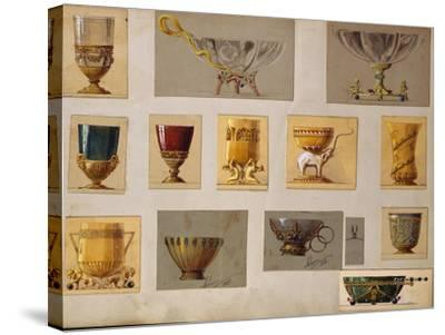 A Selection of Designs from the House of Faberge Including Bowls Goblets Cups and Tumblers--Stretched Canvas Print