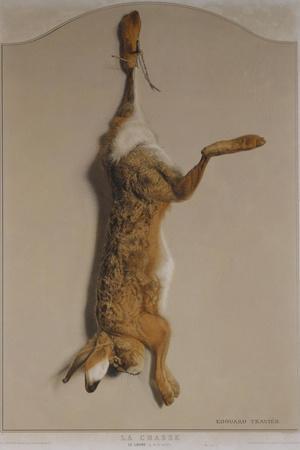 Souvenirs of the Hunt:The Hare; Souvenirs De Chasses: Le Lievre-Edouard Travies-Stretched Canvas Print