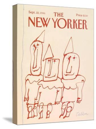 The New Yorker Cover - September 22, 1986-Robert Tallon-Stretched Canvas Print