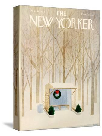 The New Yorker Cover - December 10, 1979-Charles E. Martin-Stretched Canvas Print