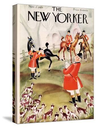 The New Yorker Cover - November 2, 1929-Constantin Alajalov-Stretched Canvas Print