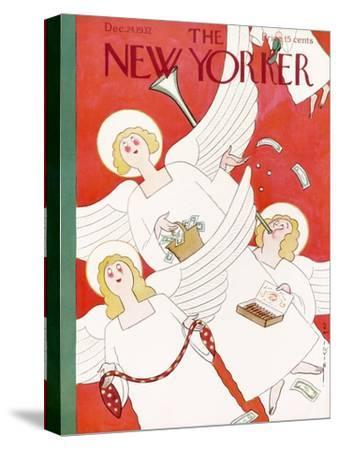 The New Yorker Cover - December 24, 1932-Rea Irvin-Stretched Canvas Print