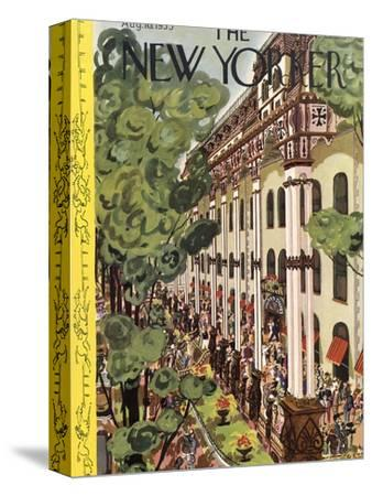 The New Yorker Cover - August 10, 1935-Arnold Hall-Stretched Canvas Print