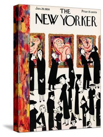 The New Yorker Cover - January 29, 1938-Christina Malman-Stretched Canvas Print