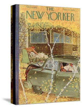 The New Yorker Cover - October 6, 1951-Garrett Price-Stretched Canvas Print