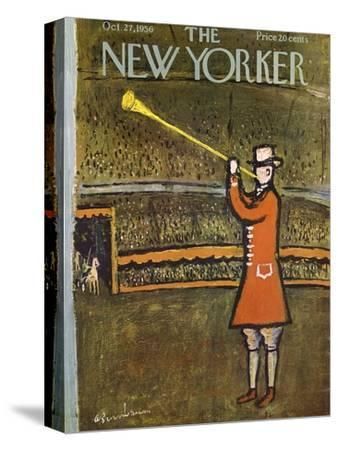 The New Yorker Cover - October 27, 1956-Abe Birnbaum-Stretched Canvas Print