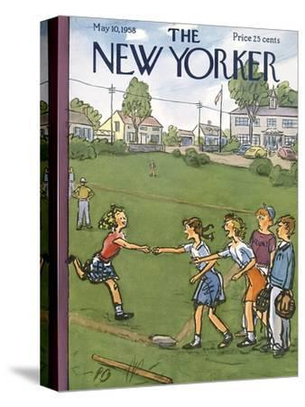 The New Yorker Cover - May 10, 1958-Perry Barlow-Stretched Canvas Print